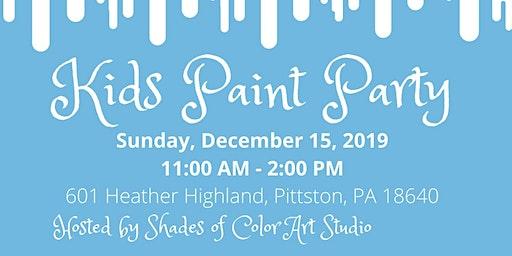 Frozen Kids Paint Party