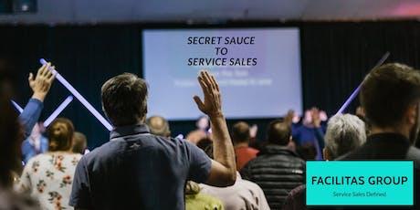 Secret Sauce to Service Sales tickets