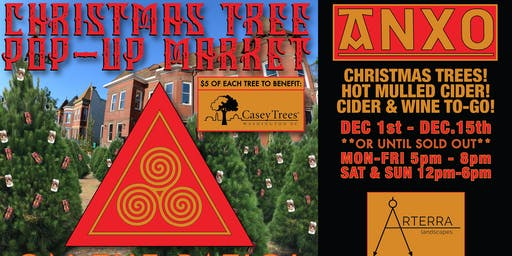 Christmas Tree Lot Pop Up at ANXO Cidery to support Casey Trees