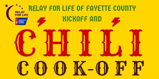 Chili Cook-Off and Relay For Life of Fayette County Kick-Off