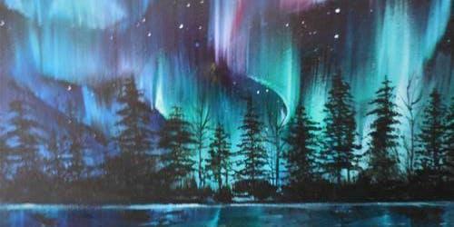Happy Little Trees: Bob Ross northern lights