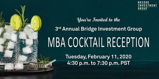 Join the Bridge Investment Group Debt Team for cocktails and hors d'oeuvres