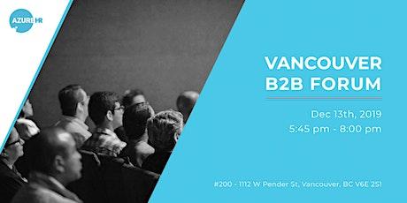 Vancouver B2B Forum tickets