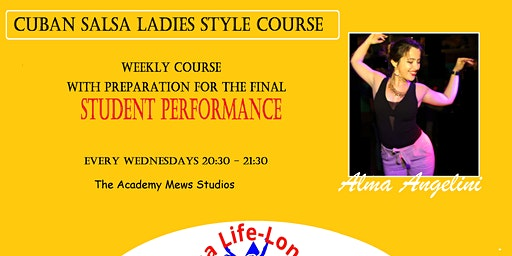 Cuban Salsa Ladies Style Course with Final Performance