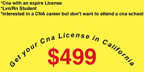 Cna challenge session (Get your CNA certification by challenging the exam) tickets