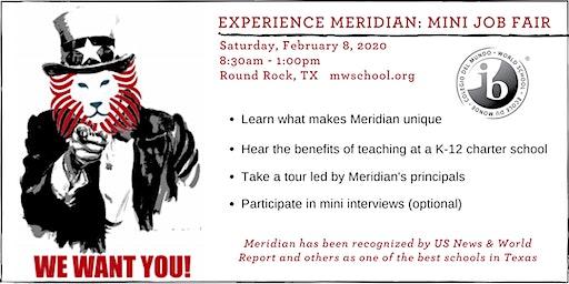 Experience Meridian: Mini Job Fair