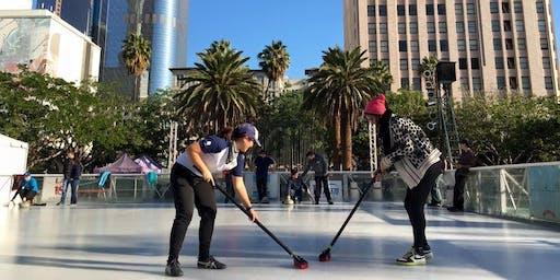 Curling Pop Up in Downtown Burbank