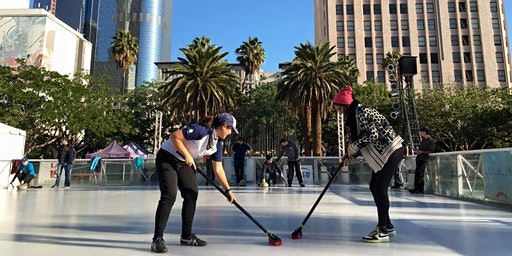 Curling Pop Up in Downtown Burbank