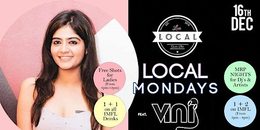LOCAL Mondays - Dj Vini