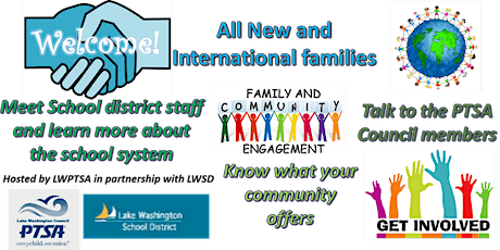 NEW AND INTERNATIONAL FAMILIES WELCOME EVENT 1/18/2020 tickets