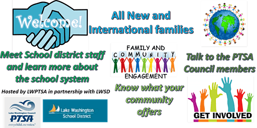 NEW AND INTERNATIONAL FAMILIES WELCOME EVENT 1/18/2020
