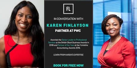 In Conversation With Karen Finlayson, Partner at PwC  tickets
