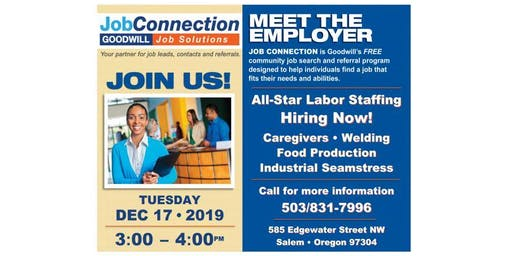 Goodwill is Hiring - West Salem - 12/17/19