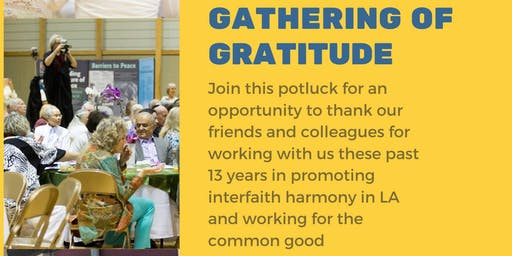 Gathering of Gratitude-Potluck for interfaith community Event
