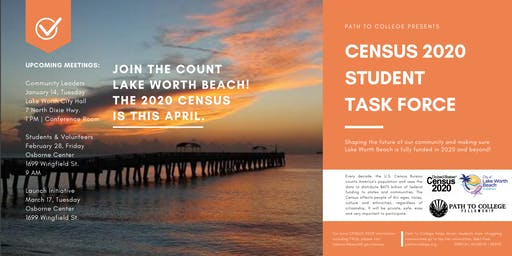 Census 2020 Student Task Force: Student & Volunteer Meeting