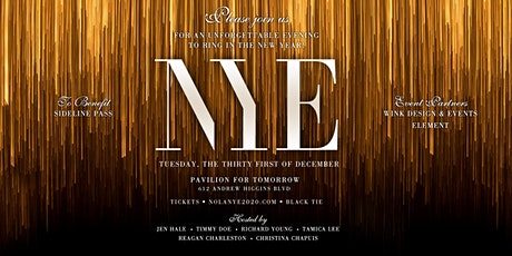 NYE 2020 /  Pavilion for Tomorrow tickets