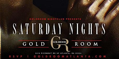 GOLDROOM SATURDAYS: ATL'S #1 HIPHOP PARTY: tickets