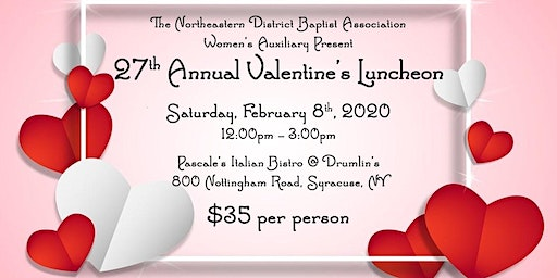NEBDA Women's Auxiliary 27th Annual Valentine's Luncheon