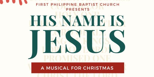 His name is JESUS: A musical for Christmas