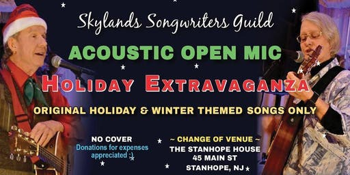 Skyland's Songwriters Guild Open Mic  in The Crossfire Lounge