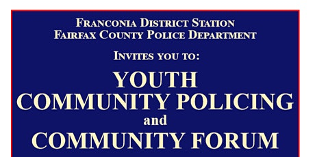 Youth Community Policing and Community Forum tickets