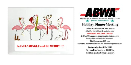 December 11th - ABWA Imperial River Holiday Party