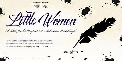 Little Women -- Sunday December 15th, 3pm