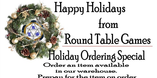 Holiday gifts at Round Table Games