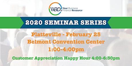 WBD 2020 Seminar Series - Platteville tickets