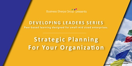 Developing Leaders Series: Strategic Planning for Your Organization tickets
