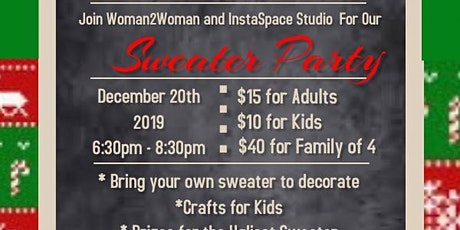 Eat, Drink, and Be UGLY Family Christmas Sweater Party tickets