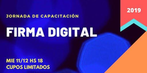 Jornada de Capacitación - Firma Digital