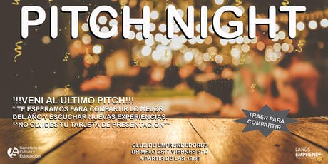 PITCH NIGHT - Networking emprendedor de Fin de año entradas