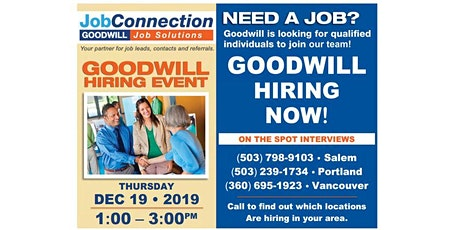 Goodwill is Hiring  -  Bend - 12/19/19 tickets