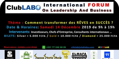 ClubLABO international FORUM on Leadership and Business #CIFOLAB billets