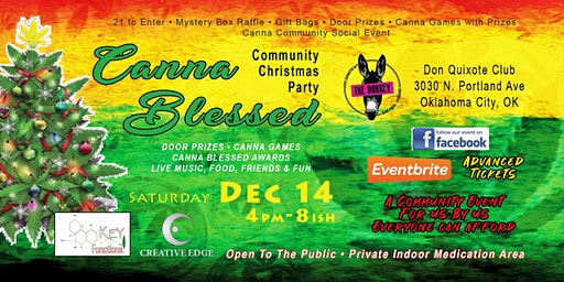 Canna Blessed Community Christmas Party VIP Event