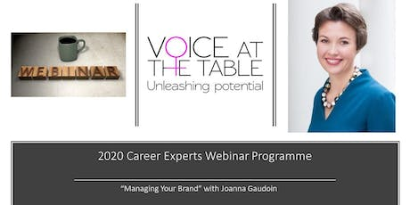 WEBINAR: Managing Your Brand: Control What Is Said About You When Not in the Room  tickets