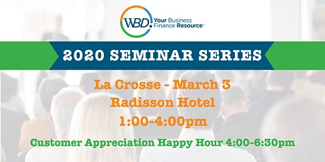 WBD 2020 Seminar Series - La Crosse tickets
