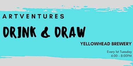 ArtVentures Drink & Draw: Mid-Tone Drawings tickets