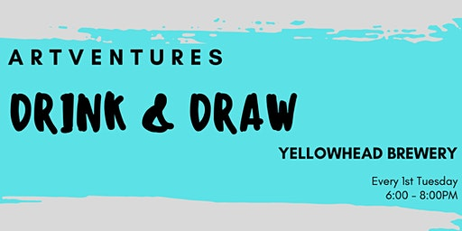 ArtVentures Drink & Draw: Mid-Tone Drawings