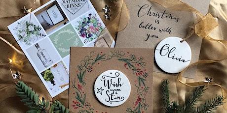 Christmas Card with Ceramic keepsake tickets