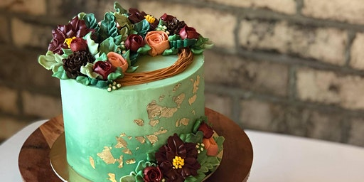 Christmas Buttercream Floral Cake Class - December 22 Afternoon