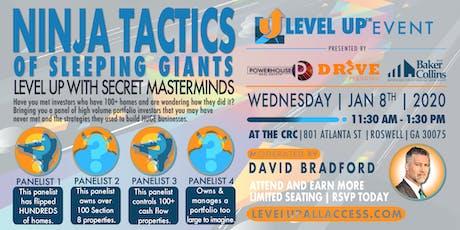 Learn the NINJA Tactics of Sleeping GIANTS at Level Up Atlanta! tickets