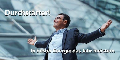Durchstarter-Workshop. In bester Energie das neue Jahr meistern!