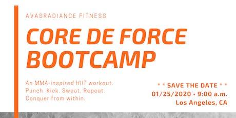 CORE DE FORCE Bootcamp 2020 - Los Angeles tickets