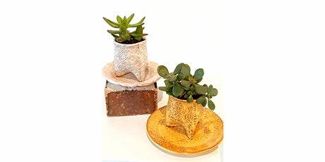Mighty Mud Presents: Hand Building for Beginners: Small Succulent Planter & Tray with Donna Barton tickets