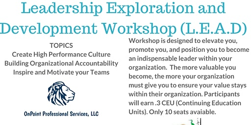Leadership Exploration and Development (LEAD) Workshop