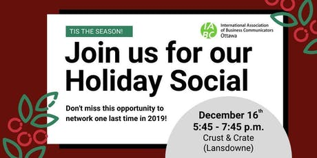 IABC Ottawa Holiday Social tickets