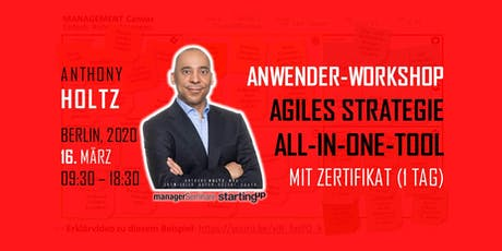 "Agiles Strategie-All-In-One-Tool.  ""QUALIFIZIERTER ANWENDER"" mit Zertifikat Tickets"