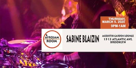Afrojam Room: Sabine Blaizin tickets